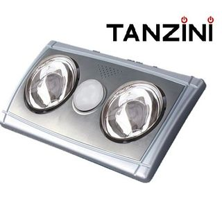 TANZINI BATHROOM HEATER 3 IN 1 (2 LAMPS)WITH SILVER FRONT COVER