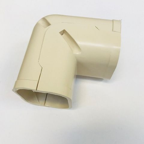 AIR CONDITIONING DUCT, 90 DEGREE VERTICAL CORNER (SC-75) - BEIGE