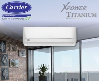 Carrier X-Power Titanium Hi-Wall3.3kW Cooling  3.8kW Heating