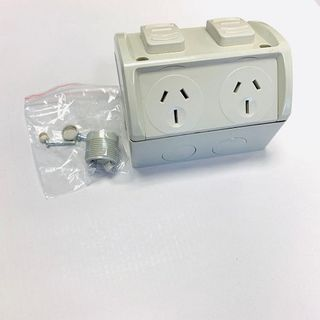 TANZINI Double Socket IP53 Weatherproof15A
