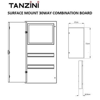 TANZINI COMBINATION METAL BOARD 30WAYSURFACE