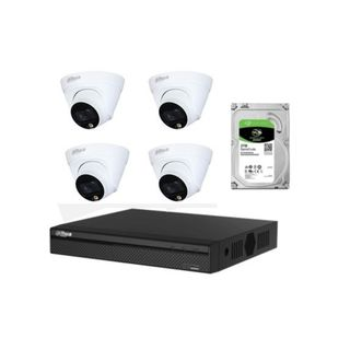 DAHUA 4Channel NVR Kit  4x2MP FULL Colour IP Camera 1TB HDD
