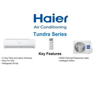 Haier Tundra 2.7kW Cooling, 3.3kW Heating Hi-Wall system
