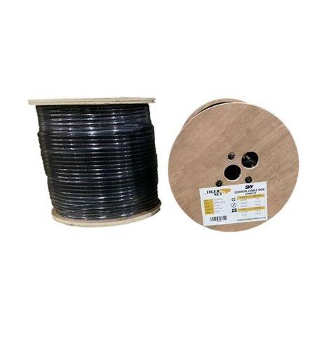 TIGER NET SKY Coaxial Cable RG6 150M Black