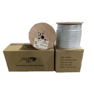 TIGER NET SKY Coaxial Cable RG6 150M White