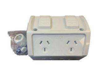 HEM Double Socket IP53 Weatherproof - 10A