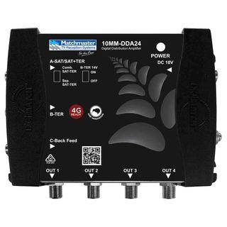 Digital Amplifier Sat/Ter 4 Way Splitter