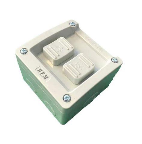 HEM Double Switch IP66 Weatherproof - 16A