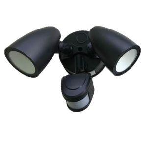 REEM 2X10W TWIN 3/4/6K LED SENSOR SPOTBLACK