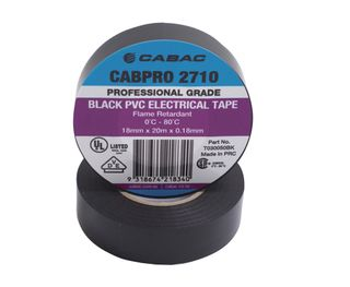 CABPRO 2710 PVC INSULATION TAPE - BLACK18MM X 20M