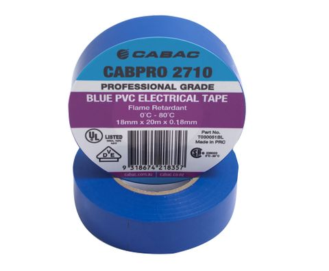 CABPRO 2710 PVC INSULATION TAPE - BLUE18MM X 20M