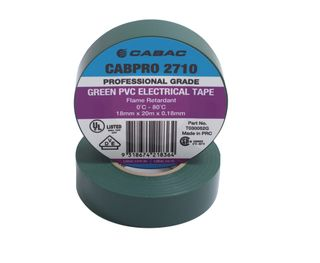 CABPRO 2710 PVC INSULATION TAPE - GREEN18MM X 20M