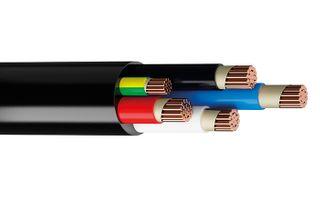 95MM 4C+E CIRCLE CABLE BLACK