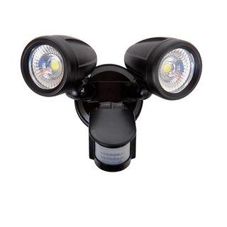 REEM Black Double LED Sensor Spotlight -30W 6000K