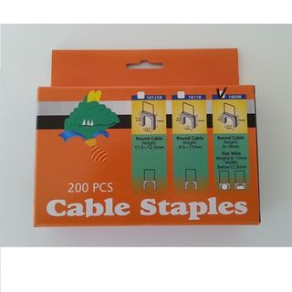 SUITS CABLE STAPLE ROUND 8MM-9MMFLAT 4MM-7MM 200 PACK