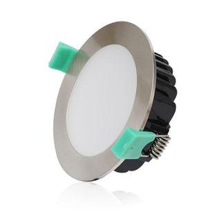 REEM13W CCT IP44 90CUT FLAT CHROME LED