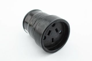 ENZIDE Black Rubber Cord Connector 3pin10amp