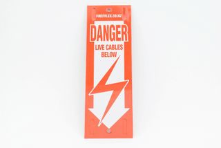 Danger Sign- Live Cable Sign