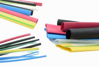 9.6mm / 3/8 Inch Heat Shrinkable Flexible tube - Yellow/Green - 1.2m