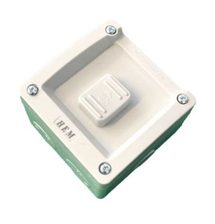 HEM Single Switch IP56 Weatherproof - 16A