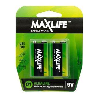9V Alkaline Battery 2 Pack