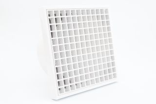 100MM EGG-CRATE GRILLE VENT - WHITE