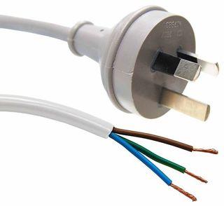 3 Pin Plug to Bare End [2M]