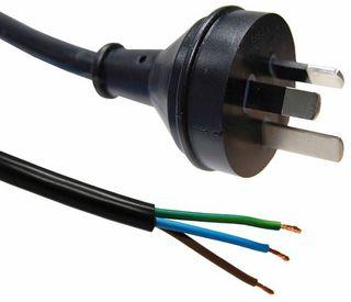 3 Pin Plug to Bare End [1M]