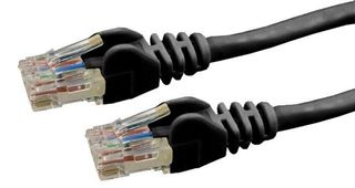 Cat6  UTP Black Patch Lead