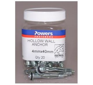 Hollow Wall Anchor Self Drilling 4x40mm20 Jar