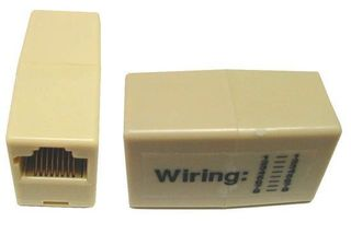 Voice Rated  RJ-11/RJ-12 6 Conductor, 2Way Joiner