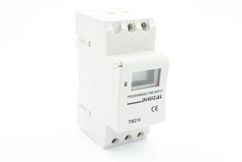 Dinrail 24/7 Timer Switch - 2 pole 16A