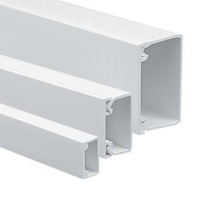 TANZINI TRUNKING 50 X 75 MM, OFF-WHITE,2.9M