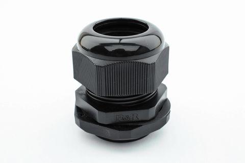 Black Gland Nylon 25mm 6/11 - IP68