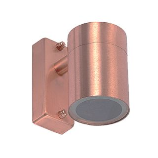 Halogen Single Wall Light IP54 Copper