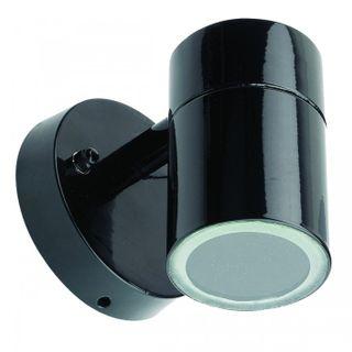 Halogen Single Wall Light IP54 Black
