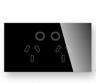DOUBLE POWERPOINT REMOTE-CTRL TOUCH SWITCH 10A BLACK