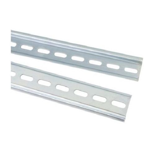Aluminium Din Rail Slotted- 1 metre leng