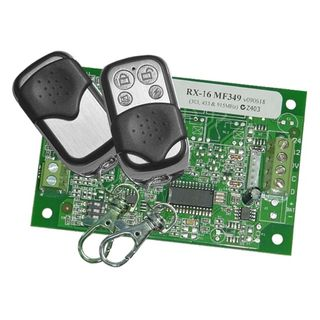 2 x 4 Button 433Mhz Remotes and a RX-16MF349 (83725100)