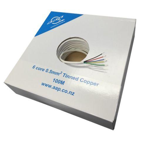 6-Core 0.5mm Tinned Copper 100m/ROLL