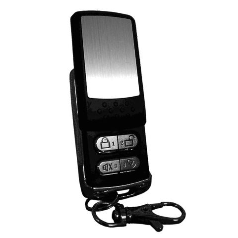 BLACK & CHROME REMOTE WITH SLIDING KEY C