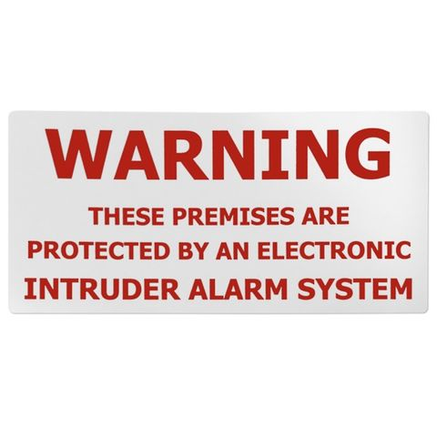RED/WHITE WARNING STICKR OUTDOOR ALARM