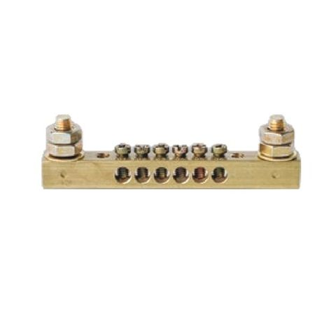 10 Way Earth Neutral Busbar with 2 stud- 63A