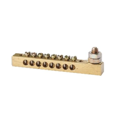 4 Way Earth Neutral Busbar with 1 stud -63A