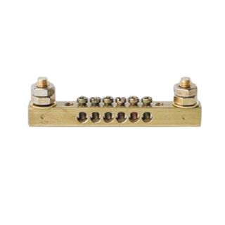 4 Way Earth Neutral Busbar with 2 stud -63A