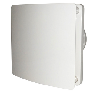 Bathroom Fan 100mm Plastic White IPX4