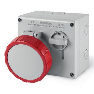 IP67 Interlocked Switch Socket outlet 3P+N+E - 32A