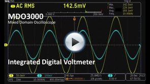 MDO3000 App Demo - Integrated Digital Voltmeter