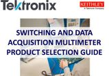 Data Acquisition Digital Multimeter Selection Guide