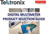 Digital Multimeter Selection Guide